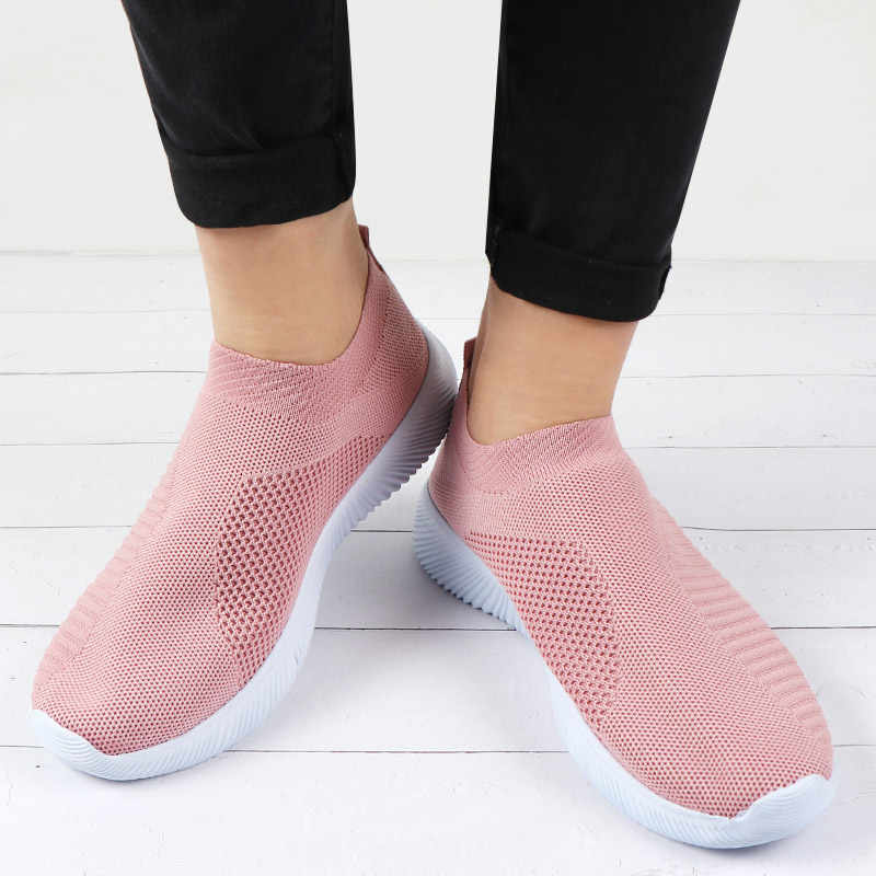 Mode Trainer Frauen Turnschuhe Vulkanisierte Schuhe Nicht Slip Casual Schuhe Weibliche Slip auf Mesh Schuhe Zapatos De Mujer