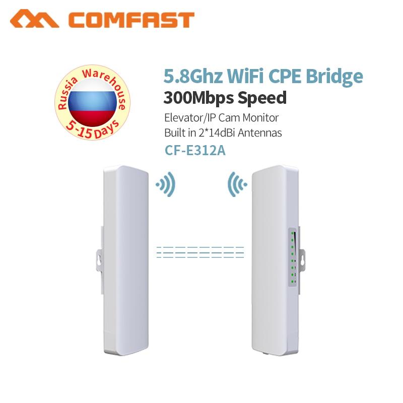 1-3 KM WIFI Gamme Sans Fil Extérieure CPE Routeur 300 Mbps prolongateur WiFi WIFI Pont 5G 200 mW Accès point AP Antenne amplificateur de wifi