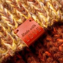Fatti a mano con amore etichette, In Pelle Tag, personalizzato tag, maglia etichette, Nome Personalizzato, Fatto A Mano, custom Design (PB1509)