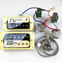 1 Set LP Standard ProBucker Alnico Electric Guitar Zebra Humbucker Pickup med Pro Wiring Harness för EPI