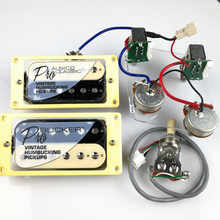 1 Set LP Standard ProBucker Alnico Electric Guitar zebra Humbucker Pickups with Pro Wiring Harness For EPI - DISCOUNT ITEM  28% OFF All Category