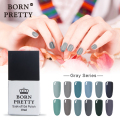 1 Bottle 10ml Born Pretty 12 Colors Nail Gel Fashion Multicolor Nail Gel UV Gray Series