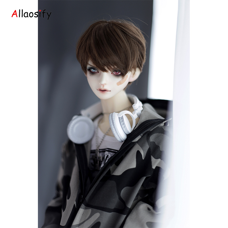 Allaosify Bjd wig SD as boy doll Beautiful golden curly 1 / 31 / 41 / 6high temperature doll wigs bjd hair free shipping free shipping sw luts as dz bjd sd boots bjd shoes