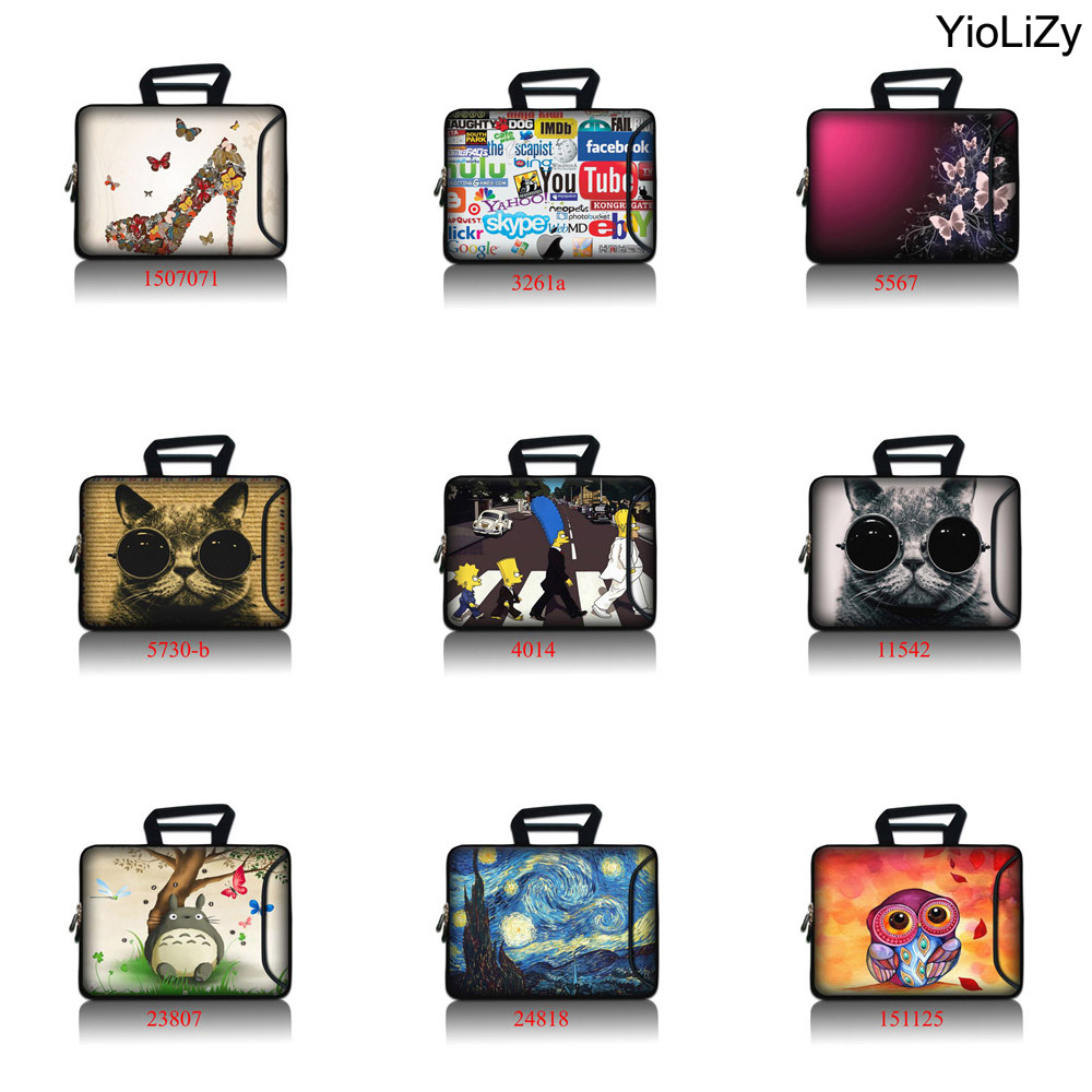 butterfly 9 7 11 6 13 3 14 4 15 6 17 3 women Laptop briefcase Tablet case men Notebook sleeve protective Bag handbag SBP 5083 in Laptop Bags Cases from Computer Office