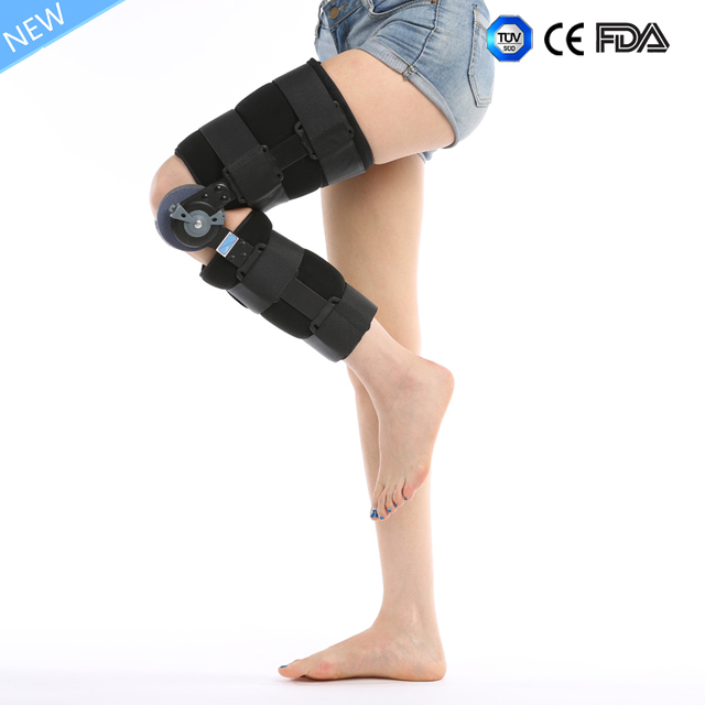 2cc9446dc5 ROM knee immobilizer orthopedic hinged knee brace / knee support-in ...