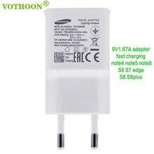 EP-TA20JWE VOTHOON Original EUA/UE/UK Carregador Rápido Para Samsung Galaxy S9 Além Disso, S8, S7 borda, nota 8, 9V1. 67A & 5V2A Carregador Rápido