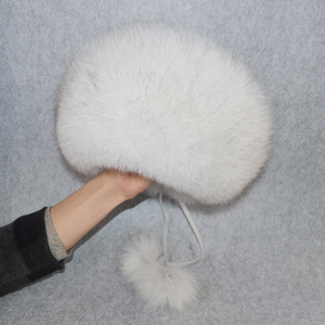 Image 5 - 2020 w nowym stylu zima rosyjski 100% naturalne prawdziwe futro z lisa kapelusz kobiety jakości prawdziwe futro z lisa Bomber kapelusze dziewczyna prawdziwe prawdziwe futro z lisa Cap