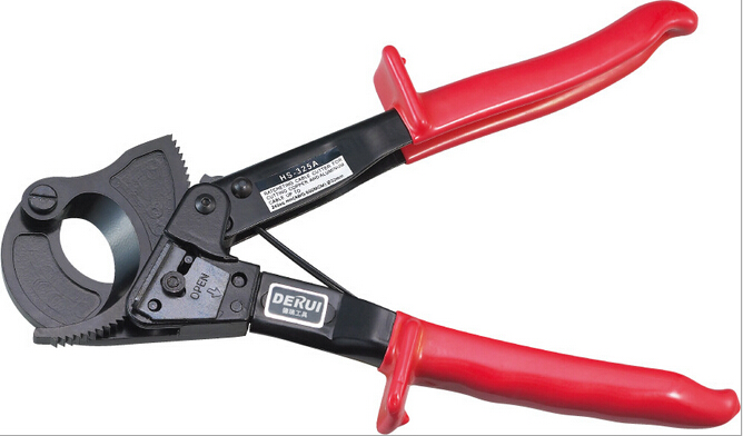 Ratchet cable cutter HS-325A Cutting range:240mm2 max , Not for cutting steel or steel wire fasen hs 325a ratchet cable cutter cutting range 240mm2 max not for steel wire germany design cutter plier tool free shipping