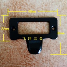 30Pcs New color balck finger label frame card holder pull handle for cabinet drawers box bin furniture 48*38mm