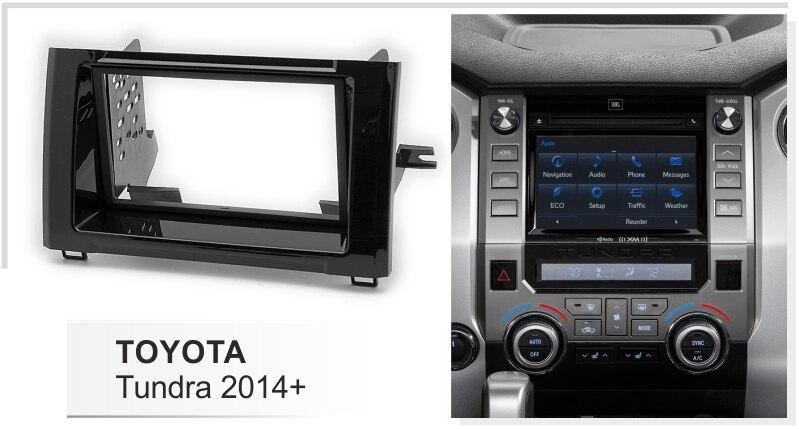 Двойной Din Автомобильный Радио адаптер для Toyota Tundra+ Dash комплект наборная доска обложка DVD стерео лицевая пластина объемная отделка панели