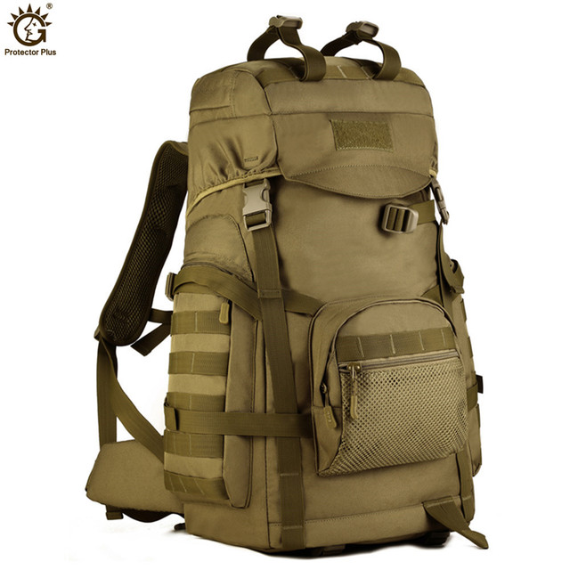60L Outdoor Large Capacity Backpack Tactical Molle Army Rucksack Men Military Backpack Climbing Sport Travel Bag Mochila