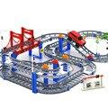 Los niños de Múltiples Capas de Tren Eléctrico Vía Del Tren Coche de Juguete Vehículos de Construcción de Puzzle Montado Bloques de Construcción de Juguetes Educativos de Regalo