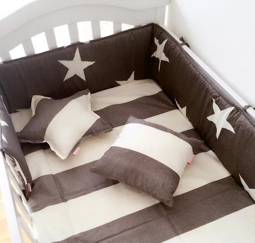 200*28 Cm Baby Bett Stoßstange Ein Stück Anti-kollision Baumwolle Drucke Baby Nestchen Infant Füllung Baby Bett Stoßstange Bettwäsche Volumen Groß