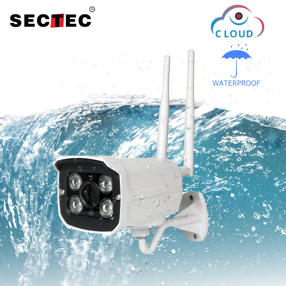 SECTEC Full HD 1080P Waterproof WiFi IP Camera Surveillance Outdoor Camera Security Night Vision Cloud Storage CCTV CameraSECTEC Full HD 1080P Waterproof WiFi IP Camera Surveillance Outdoor Camera Security Night Vision Cloud Storage CCTV Camera