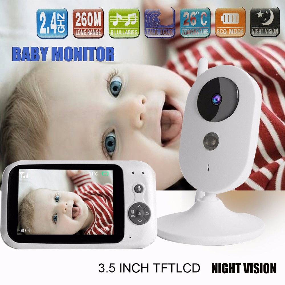 303A 3.5 inch Draadloze Video Kleur Babyfoon Nanny Bewakingscamera Nachtzicht Monitoring Jongens meisjes baby kamer-in Baby Monitor van Veiligheid en bescherming op AliExpress - 11.11_Dubbel 11Vrijgezellendag 1