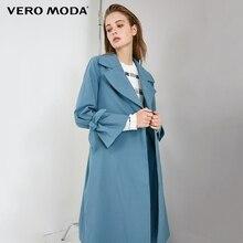 Vero Moda куртка женская OL стиль скрытые пуговицы на шнуровке лацкане минималистский Тренч   318321519