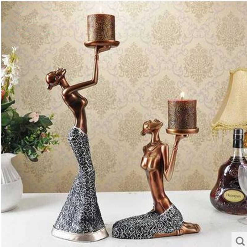 Beautiful figure statue Candlestick, home decoration products, wedding gifts