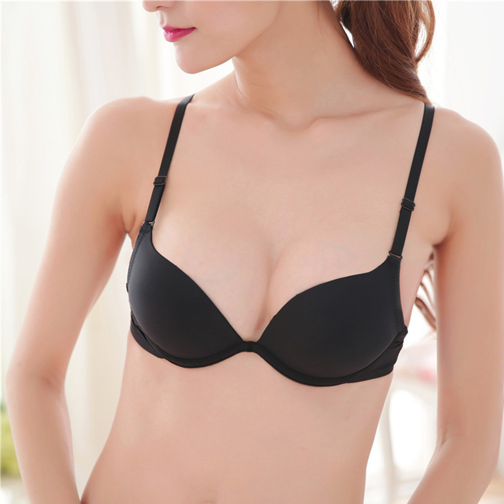 Womens Small Breasts Deep V Push Up Bras Sexy Plunge Bra Underwire Bralette Padded Support Brassiere Bh Top AA A B Cup