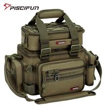 Piscifun Large Capacity Fishing Bag Portable Multifunctional Tackle Box Bag Multipurpose Outdoor Hiking Camping Bolsa De Pesca