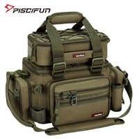Piscifun grande capacidade saco de pesca portátil multifuncional caixa multiuso caminhadas ao ar livre acampamento bolsa pesca