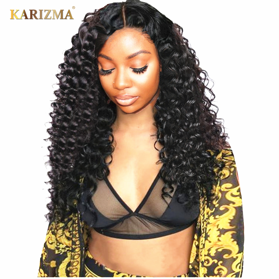 Karizma 13X4 Lace Front Human Hair Wigs Pre Plucked Brazilian Remy Water Wave Lace Front Wig