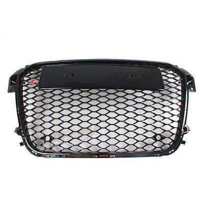 A1 RS1 Style Black Honeycomb Mesh Front Grill Grille For Audi A1 2010 2015 Car Styling