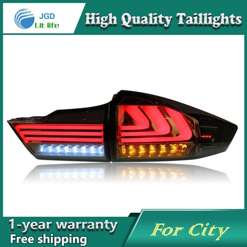 Car Styling Tail Lamp case for Honda City Tail Lights LED Tail Light Rear Lamp LED DRL+Brake+Park+Signal Stop Lamp