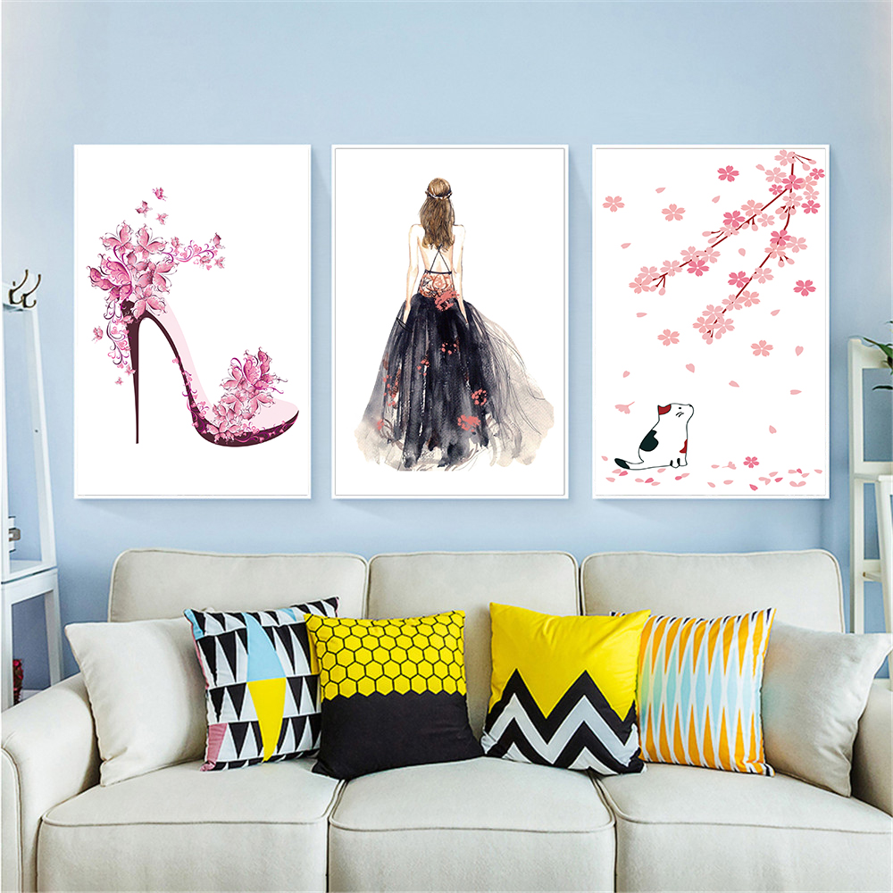 CAT WOMAN CANVAS PRINT PICTURE WALL ART VARIETY OF SIZES AVAILABLE
