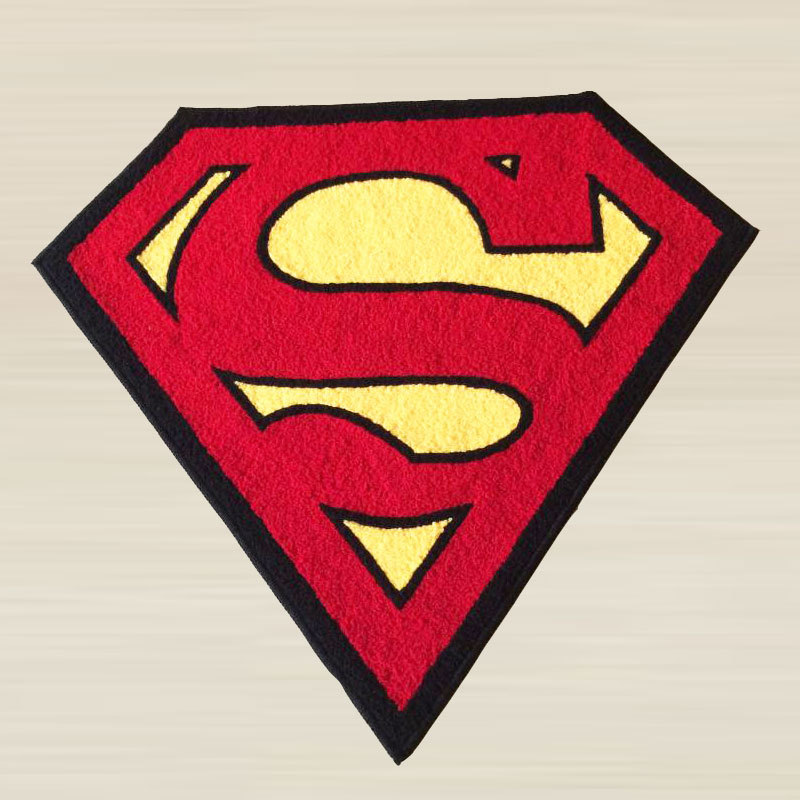 Aliexpress.com : Buy Superman Rug Super Hero Rug For Living  Room/Bathroom/Door Machine Washable Rugs Floor Mat Rug In The Bathroom  Tapis Alfombras From ...