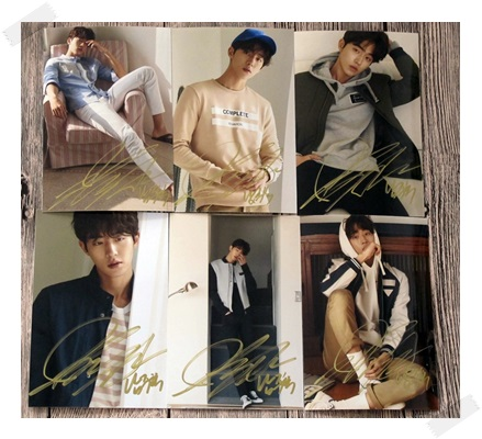 signed Nam Joo Hyuk  autographed photo 6 inches free shipping  102017A