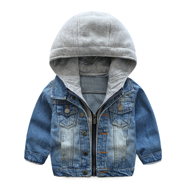 Warm Denim Cotton Child Coat Casual Children Outerwear Kids Clothes Windproof Baby Boys Jackets For 3-10 Years Old