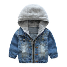 Warm Denim Cotton Child Coat Casual Children Outerwear Kids Clothes Windproof Baby Boys Jackets For 3 10 Years Old