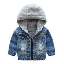 Warm Denim Cotton Child Coat Casual Children Outerwear Kids