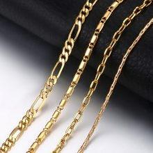 Collier avec chaîne à maillons en or pour femmes, Rolo Figaro, cadeau, à la mode, bijoux pour femmes, livraison directe, 2020, KGNM127