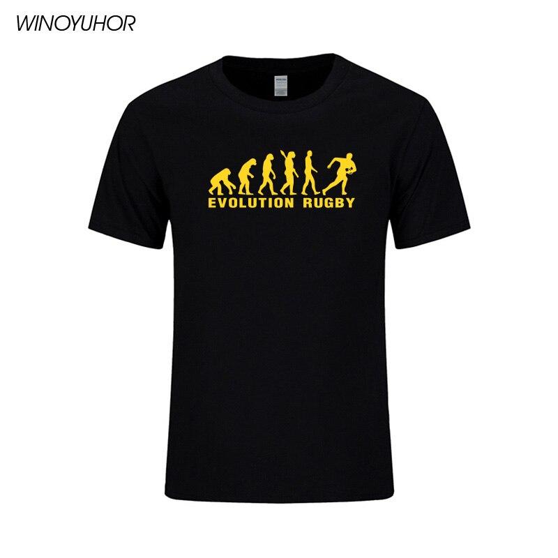 Evolución Rugby Impreso Algodón Camisetas Hombre Casual Manga Corta - Ropa de hombre - foto 2