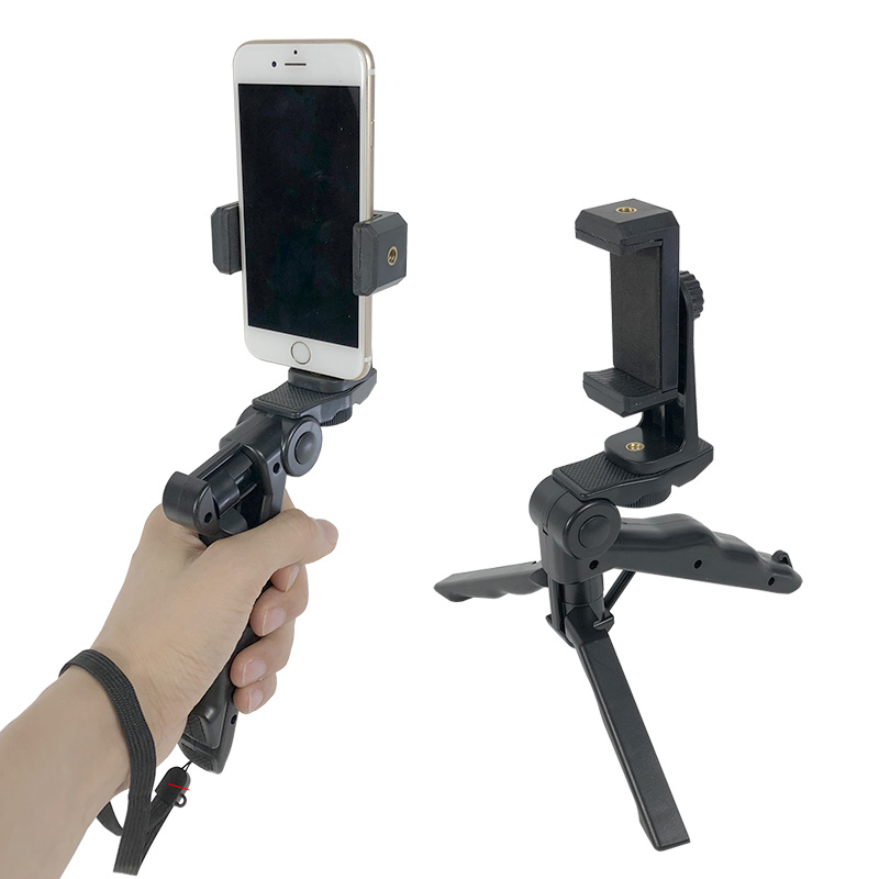 Mini Tripod Holder Handheld Stabilizer Phone Clip Mount Extendable Rotatable For Iphone Samsung Huawei Xiaomi Yi Action Camera
