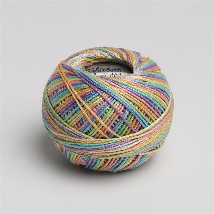 Размер 3 хлопок жемчуг пестрый 50 грамм мяч египетская длинноштапельная хлопковая пряжа газированная двойная мерсеризованная 6 нитей плетение - Цвет: 153