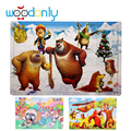 100 pcs Wooden Puzzles Child's Jigsaw Puzzle Toddlers Educational Toys for Children kids toy oyuncak