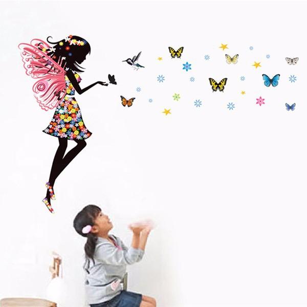 HTB1RSqrKpXXXXaJaXXXq6xXFXXXI Beautiful Butterfly Elf Arts Wall Sticker For Kids Rooms