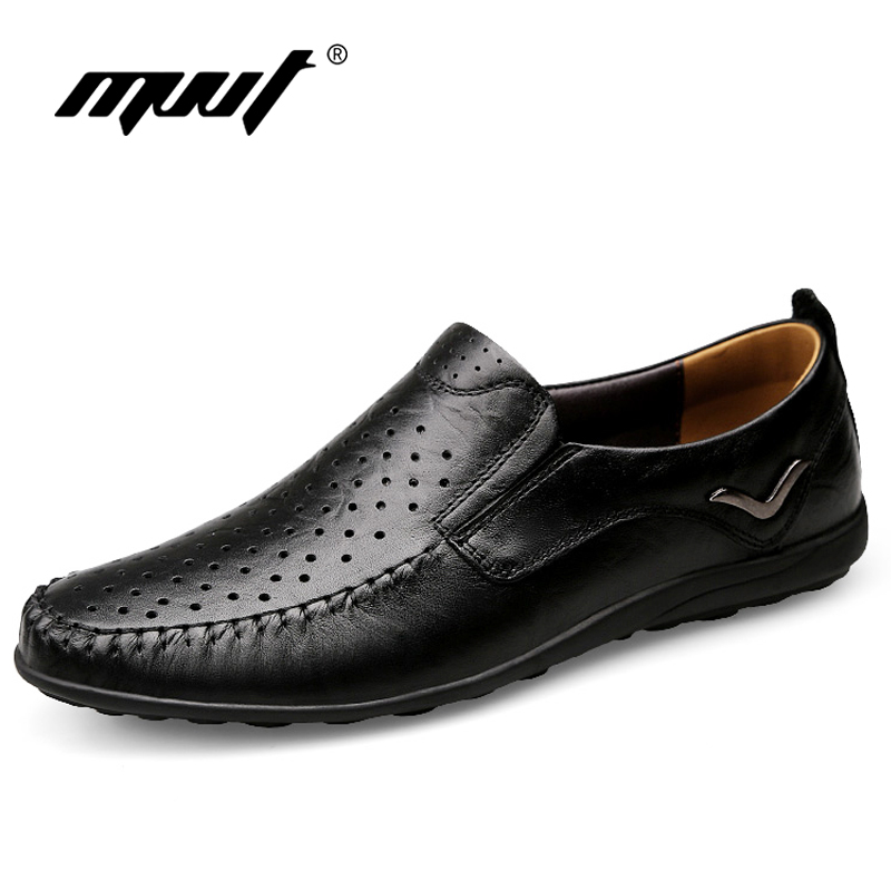 2017 Summer Breathable Men Casual Shoes Genuine Leather Shoes Men Comfortable Loafers for Men Flats Plus Size Men S genuine leather men casual shoes plus size comfortable flats shoes fashion walking men shoes