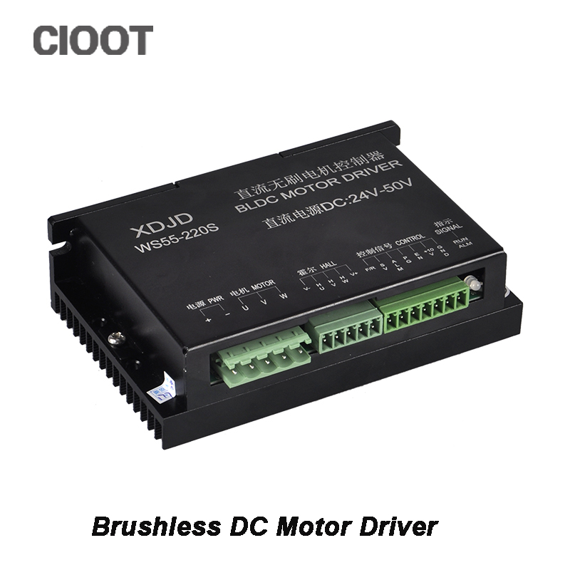 CNC Stepper Motor Driver Controller 3 Phase DC 24-50V Brushless DC Motor Driver For 600W Router Spindle Milling Tools cloudray stepper motor driver 2 leadshine phase dc motor driver controller for 20 50 vdc 1 0 4 2a cnc router kits drive dm542