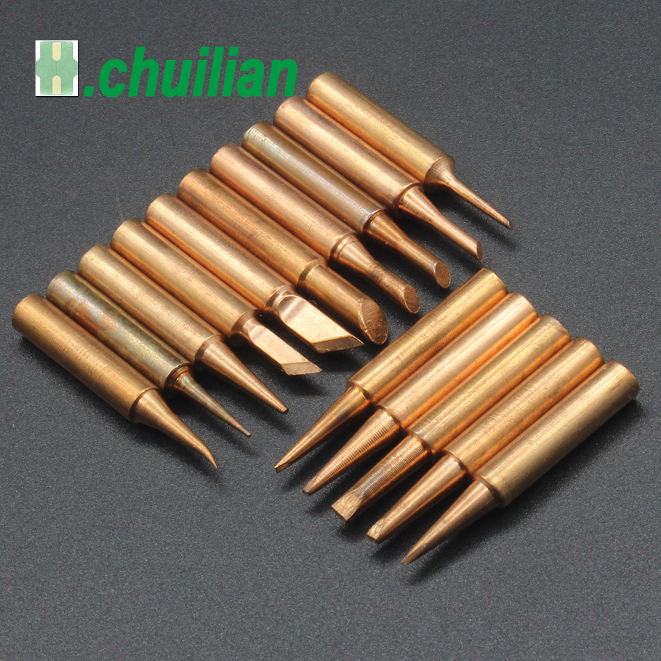 1PCS 900M T Series Pure Copper Soldering Iron Tip Lead-free Welding Sting For Hakko 936 FX-888D 852D+ Soldering Iron Station