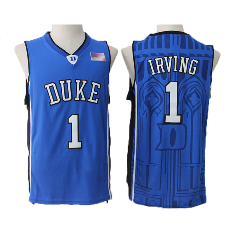 цена на Kyrie Irving Jersey 1 Duke University Blue Devils Basketball Jersey Men's Commemorative Sport Shirt All stitched
