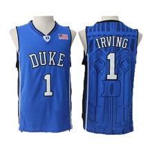 Kyrie Irving Jersey 1 Duke University Blue Devils Basketball Jersey Men s  Commemorative Sport Shirt All stitched 5a600a4dc