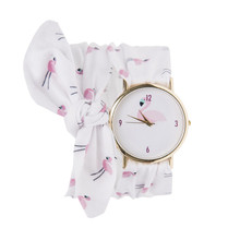 MJARTORIA Dress watch Women Cloth Quartz-Watch Fashion Woman WristWatch Ladies clock Fabric Sweet Female Bracelet Watch