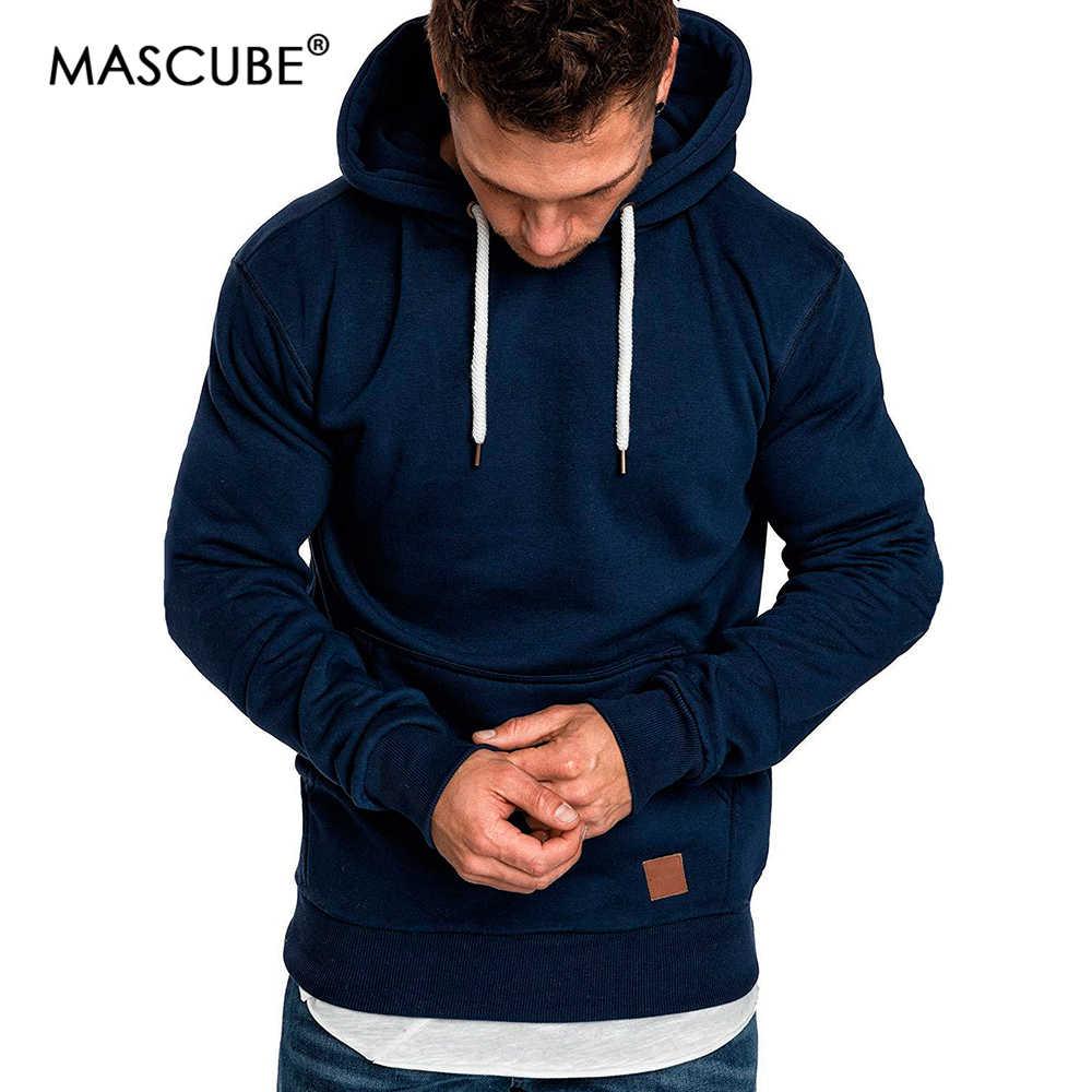 MASCUBE Mannen 2019 Lange Mouwen Herfst Winter Casual Jassen Hoodies Top Fashion Solid Trainingspakken Sweatshirts Hoody Mannen Kleding