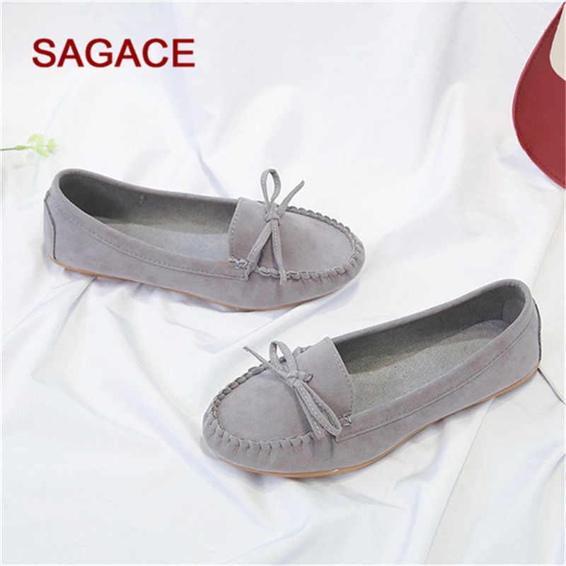 Plus ขนาด 35-43 รองเท้าสตรี 2019 รองเท้า Loafers ลูกอมสีบนรองเท้าแบนรองเท้าบัลเล่ต์สบายสุภาพสตรีรองเท้า zapatos mujer
