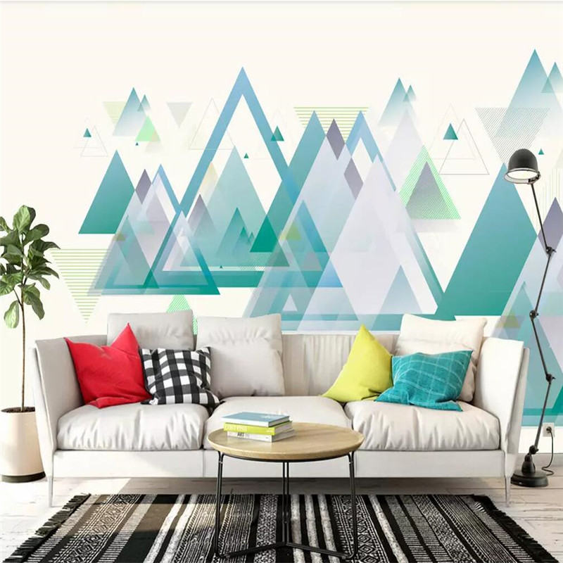 Generation Simple Mountain Range Mountain TV Background Wall Professional Production Mural Wholesale Wallpaper Custom Photo Wall
