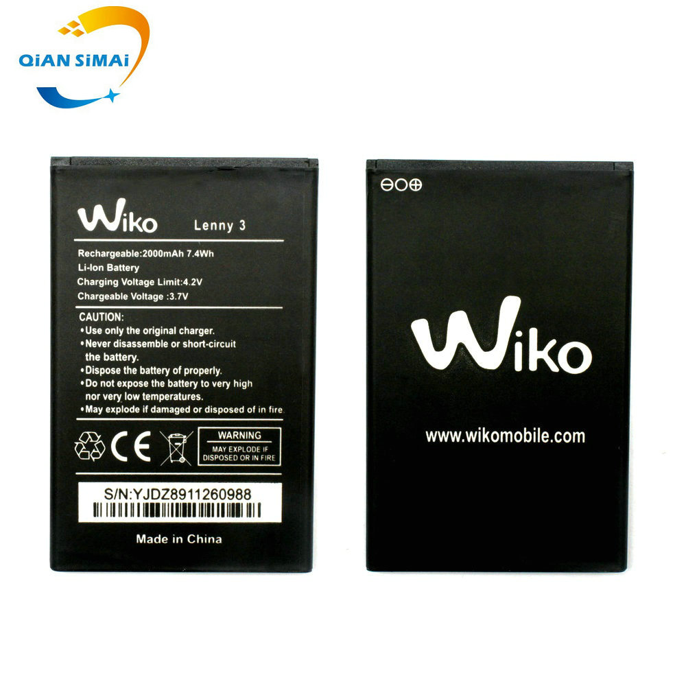 Track-Code Mobile-Phone 3-Battery Qian 1PCS For Wiko LENNY High-Quality New Simai