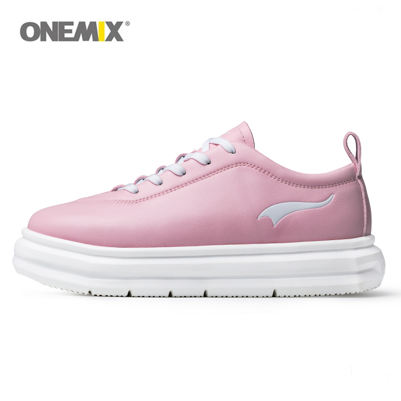 Onemix women sports shoes for girl outdoor athletic shoe micro fabric leather light female walking woman sneaker pink yellow vik max athletic shoe women tricot lined figure ice skates shoes